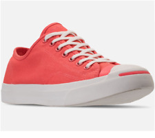 Converse  Men's Jack Purcell Pink Coral Low top woven All Star Sneaker 160566C