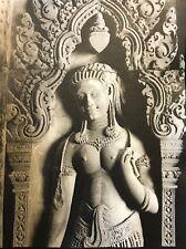 Temple Banteay Srei Angkor Vat Cambodge photographie originale C 1950 presse 3