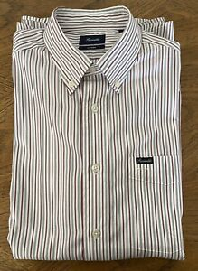 Faconnable Men's Long Sleeve Button Down Collar 100% Cotton Shirt Size M