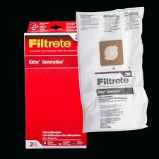 Kirby Generation Series Ultra 3M Filtrete Cloth Vacuum Bags w/Dust Seal 2 Pack