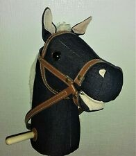 Hobby horse with sounds and wheels (Dark Denim)