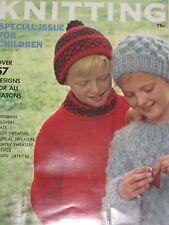 Vintage 1960s Book 1965 VOGUE KNITTING SPECIAL CHILDREN ISSUE 57 Pattern Designs