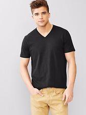 1pc Gap Men Essential Basic V Neck Short sleeve Tee T-shirt blue grey or black