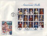 1997 Classic American Dolls Sc 3151 full sheet FDC Fleetwood