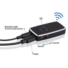 2in1 Wireless Bluetooth Car Audio Stereo Music Receiver Transmitter Adapter A2DP