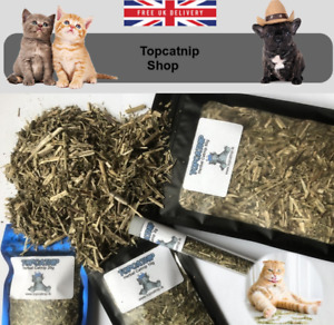 Catnip Extra Strong Organic Dried Rough Cut Catnip Herb For Cats Toys UK