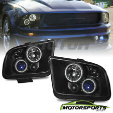 [CCFL Halo] 2005 2006 2007 2008 2009 Ford Mustang Black Projector Headlights Set