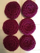 6 Burgundy/wine -  NYLON NET POT SCRUBBIES