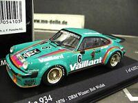 PORSCHE 911 934 DRM 1976 Norisring Vaillant #6 Wollek Kremer Minichamps 1:43