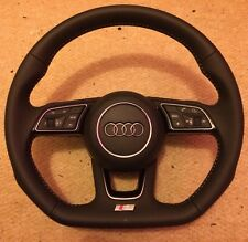 AUDI A4 A5 S LINE FLAT BOTTOM  STEERING WHEEL + PADDLE SHIFT + AIRBAG BRAND NEW