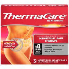New ThermaCare Menstrual Pain Therapy Heatwraps 3 Ct Box