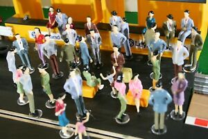 SCALEXTRIC New Figures 12 No 1:32 scale on stands. 3 types to choose from.
