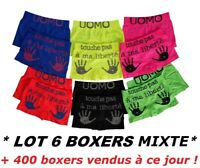 ♥ LOT DE 6 BOXERS SHORTY GARCON OU FILLE TAILLE 4 à 14 ans culotte enfant slip ♥