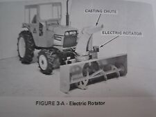 1979 ALLIS CHALMERS MODEL 64 SNOW BLOWER FOR 5020, 5030 TRACTOR OPERATORS MANUAL