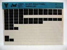 Yamaha TT250 Off Road 1982 TT250J Parts List Manual Microfiche n12