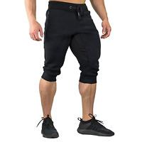EKLENTSON Men's Three-Quarter Capri Pants 3/4 Workout Training Jogger Short