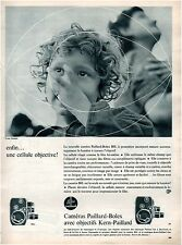 ▬► PUBLICITE ADVERTISING AD Caméra PAILLARD BOLEX Photo Yvar Dalain 1958