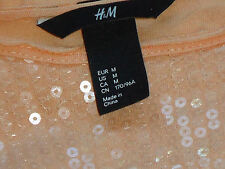 H & M PeachS/sSequinScoopedNeck SizeM as NEW