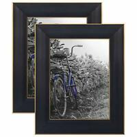 Americanflat Picture Frame 4x6 5x7 8x10 (2) Pack Rustic Wood Wall or Tabletop