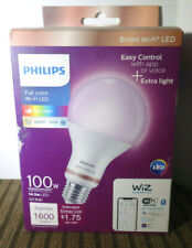 Philips LED Tunable Full Color Wi-Fi WIZ Smart Dimmable Wireless 100W Watt A21