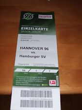 Ticket Hannover 96 - Hamburger SV, Sammelkarte, Ultras,1887 HSV, DFB, 15,