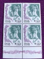 ITALIA 2002 QUARTINA LA DONNA NELL'ARTE   DA € 0,01  NUOVI