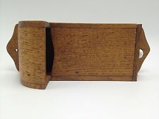 "Wood Match holder wall 10"" matches handmade primitive"
