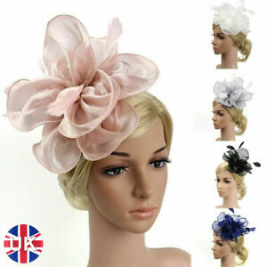 Elegant Feather Flower Headband Alice Band Fascinator Womens Wedding Party Decor