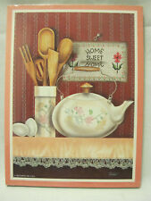Vtg 1993 Stapco Standing Wall Hanging Plaque Kitchen Home Sweet Home Utensil Egg