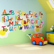 26 Alphabet Animals 7cm Letters Wall Art Decor Children Learn Vinyl Stickers