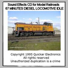 HO SCALE SOUND EFFECTS CD A DIESEL LOCOMOTIVE IDLING IN A TRAIN YARD