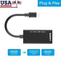 Micro USB To HDMI 1080P Wire Cable TV AV Adapter For Cell Phones Tablets HDTV