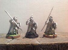Señor DE LOS ANILLOS ROHAN ROYAL GUARD 3 figuras de metal warhammer
