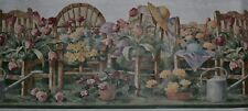"Waverly Wallpaper Border~Flower Garden~Hat~Chair~Tulip~Rose~10""~5 yd~5503083~NEW"