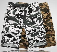 Men's Short Pants Camouflage Loose Pockets Army Casual Cargo Shorts Plus size ht