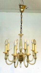 Lustre en verre de Murano Huit bras de lumière XX siècle