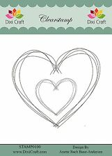 Dixi Craft Clear Stamp - Heart 8.7cm x 9cm