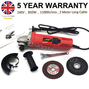 Small Mini Electric Angle Grinder 125mm 850W with 2 Cutting Disc Grinding Sawing