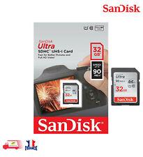 SanDisk Ultra 32Go carte mémoire SD 90Mo/s Class 10 UHS-I SD Full HD Video