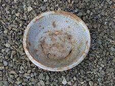 "Vintage Gray Mottled Graniteware 12"" Bowl Basin Dish - Rustic Farm Find"