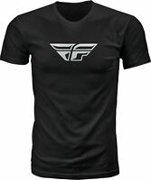 Fly Racing Fly F-Wing Tee Black Lg 352-0610L