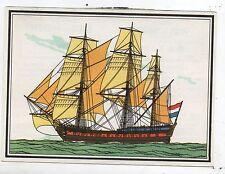 Chromo TINTIN Voir et Savoir MARINE série 12. Chromo 75 Frégate 1780 Hollande