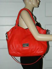 MARC BY MARC JACOBS CLASSIC Q FRANCESCA CHILI RED LEATHER TOTE