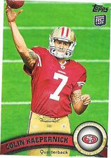 Colin Kaepernick Original Football Trading Cards Season 2011