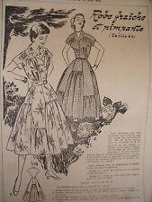 1063 (528) ANCIEN PATRON FEMMES D'AUJOURD'HUI ROBE PIMPANTE  TAILLE 44 1955