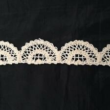 """10 Yards natural Cotton Crochet Cluny Scalloped Unique Trim 1 1/4"""" SHIP FROM USA"""