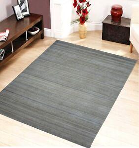 5'x 8' Rug | Handmade Hand Woven Wool Gray Area Rug