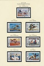 UTAH - VERMONT HUNTING PERMIT STAMPS 1986-1997, 1986-1999 CV $429 BT9121