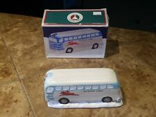 Christmas Valley/Collectible Christmas Village Figure Reindeer Lines Bus