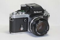 Nikon F2 Photomic A SLR Camera Body w/ Nikkor 50mm F/1.4 Ai Lens Made In Japan